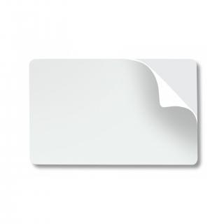 карты белые, самоклеящиеся, 10 mil,  упаковка 100 карт (g0262-100)