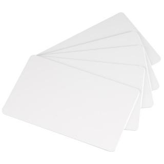 белые карты classic, тонкий пластик, 0.51мм - 20 mil, 5 упаковок по 100 карт (с4002)