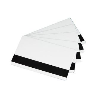 белые карты classic с магнитной полосой hico, пластик, 0.76мм -30 mil, 5 упаковок по 100 карт (с4003)