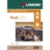 Фотобумага LOMOND матовая A4, 230 г/м2, 50 л