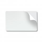 Карты белые, самоклеящиеся, 10 mil, 5 упаковок по 100 карт (G0262)